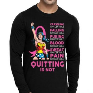 Breast Cancer Wander Woman crawling is acceptable falling blood shirt