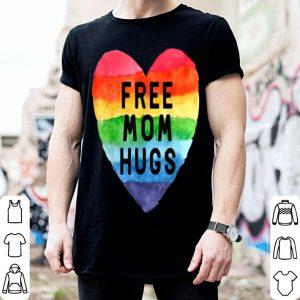 Nice Free Mom Hugs Rainbow Pride Lgbt Gifts Tee shirt