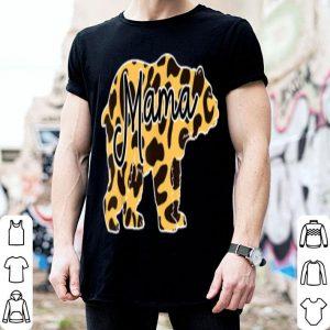Nice Mama Bear Cheetah Leopard Print Gift Winter Christmas Gift shirt