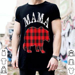 Nice Red Plaid Mama Bear Matching Buffalo Family Pajama shirt