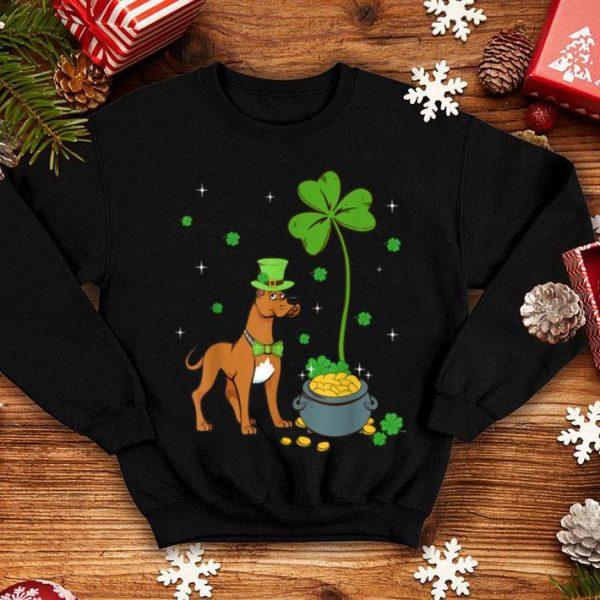 Nice Shamrock Leprechaun Great Dane St Patrick's Day shirt