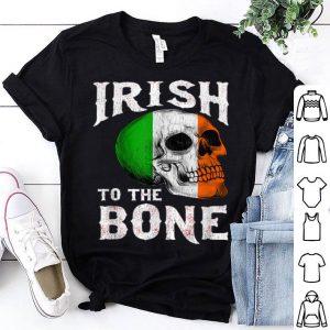 Nice St. Patrick's Day Irish To The Bone St. Paddy's Skull Flag shirt