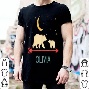 Official Olivia Name Gift Personalized Mama Bear With 1 Cub shirt