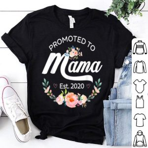 Official Promoted To Mama Est 2020 - First Time Mom Floral shirt