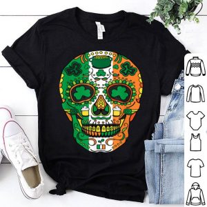 Original Day Of The Dead Irish Sugar Skull St Patricks Day shirt