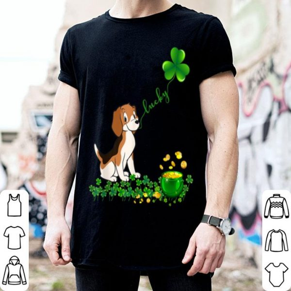 Original Lucky Saint Beagle Dog Shamrock St Patrick Day shirt