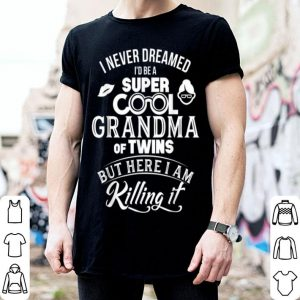 Original Pretty Super Cool Grandma Of Twins Mothers Day Gifts shirt