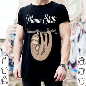 Original Pretty Womens Mama Sloth Cute Mothers Day 2019 Gift shirt