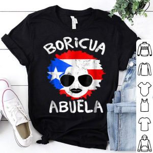 Premium Puerto Rico Ladies Abuela Grandma Flag Mothers Day shirt