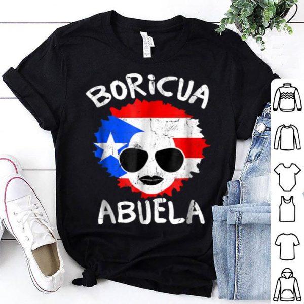 Premium Puerto Rico Ladies Abuela Grandma Flag Mothers Day shirt