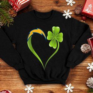 Pretty Patrick Day Shamrock Heart Football Team Los-angeles-charger shirt