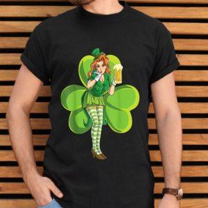 St Patricks Day Sexy Leprechaun Redhead Women Lady Beer Gift shirt