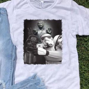 Star wars selfie with death Stormtrooper Darth Vader shirt