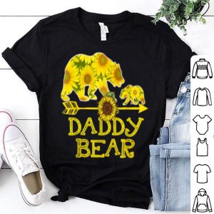 Top Daddy Bear Sunflower Funny Mother Father Gifts shirt