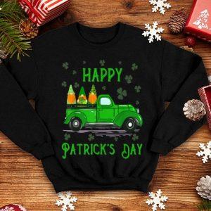 Top Happy Saint Patrick's Day Cool Green Gnomes Truck Shamrock shirt