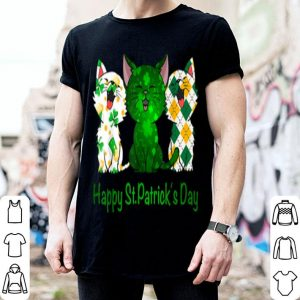 Top Three Cats Funny Pet Cat Lovers Happy St Patrick's Day Gift shirt