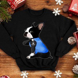 Top Women Gifts Boston Terrier Dog Tattoo I Love Mom shirt