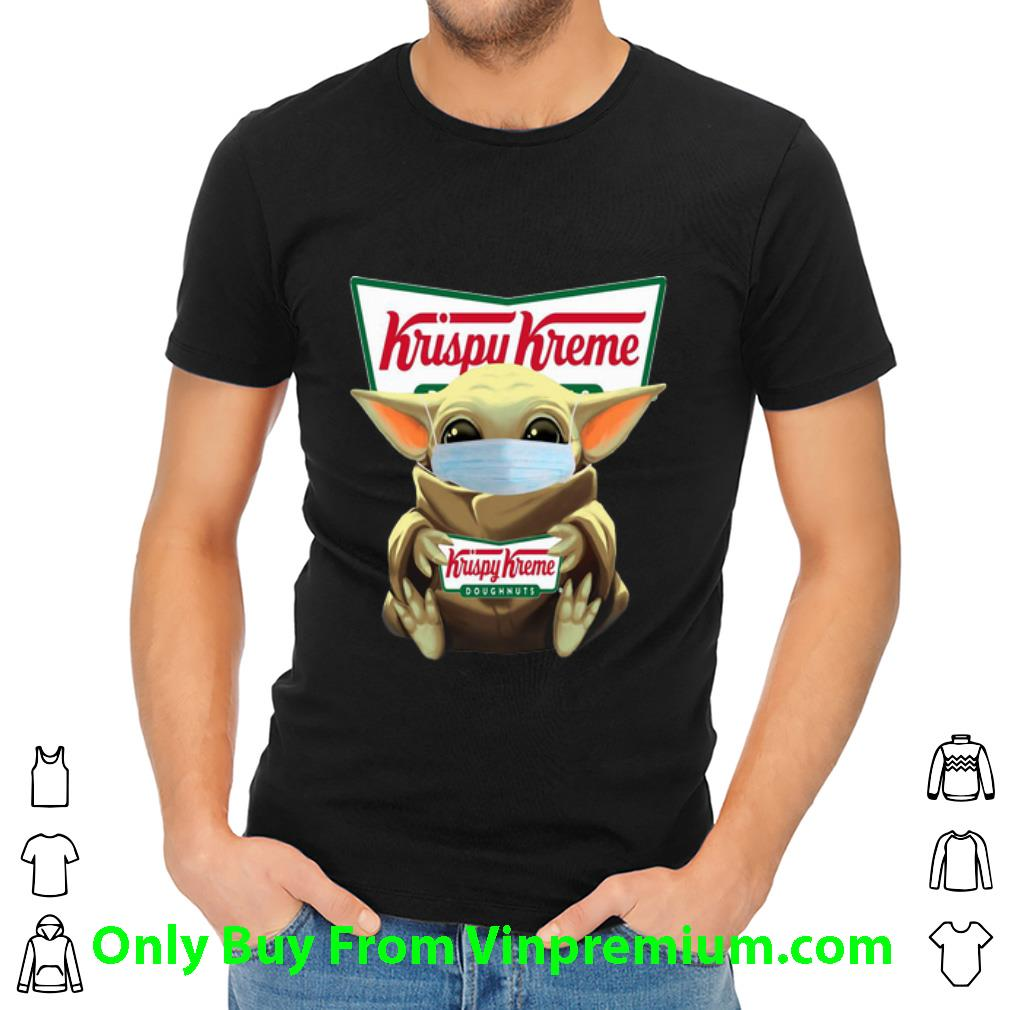 Awesome Star Wars Baby Yoda Face Mask Hug Krispy Kreme shirt
