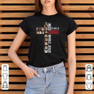 Official All I Need Today Is A Little Bit Of Aztecs And A Whole Lot Of Jesus shirt 2