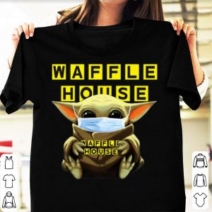 Official Star Wars Baby Yoda Mask Hug Waffle House Covid-19 shirt