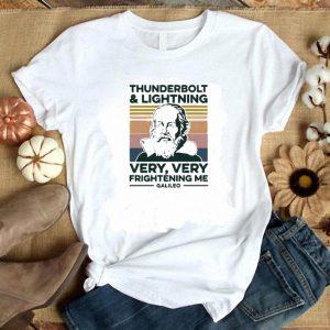 Official Thunderbolt lightning very very frightening me galileo vintage shirt