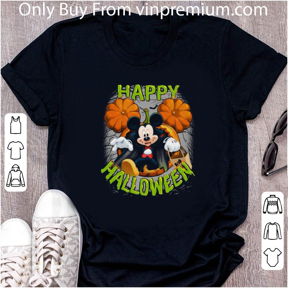 Awesome Disney Mickey Mouse Pumpkin Happy Halloween shirt