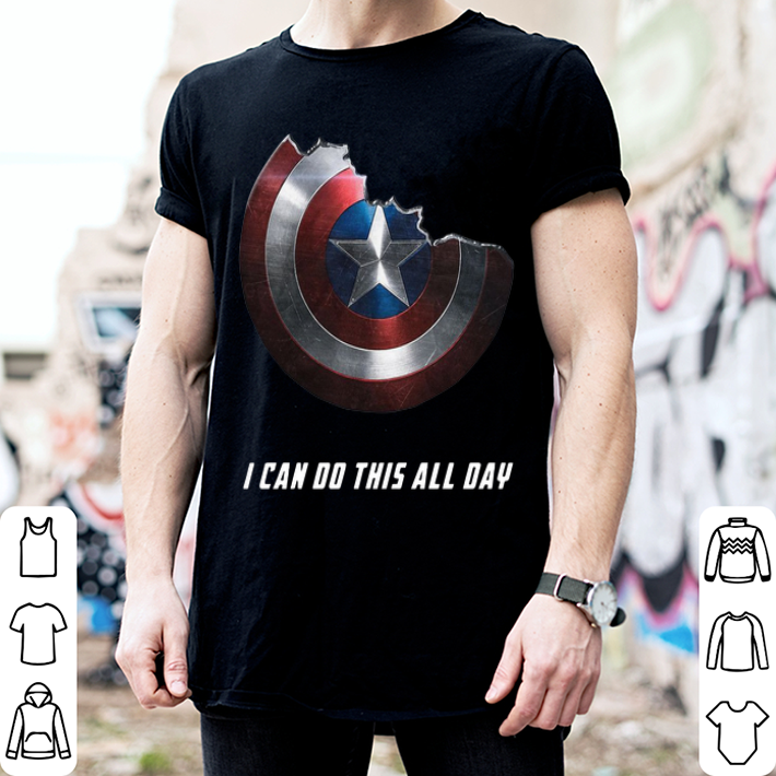 Captain America shield i can do this all day shirt