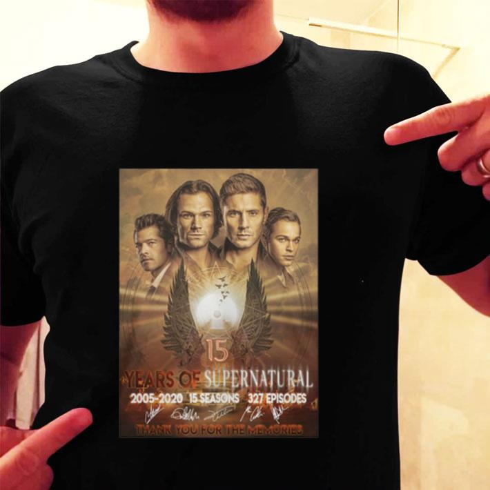 15 years of Supernatural final season poster 2005-2020 signature shirt