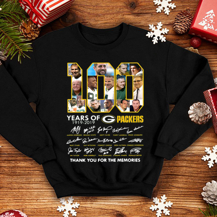 100 year of Green Bay Packers thank you for memories signatures shirt