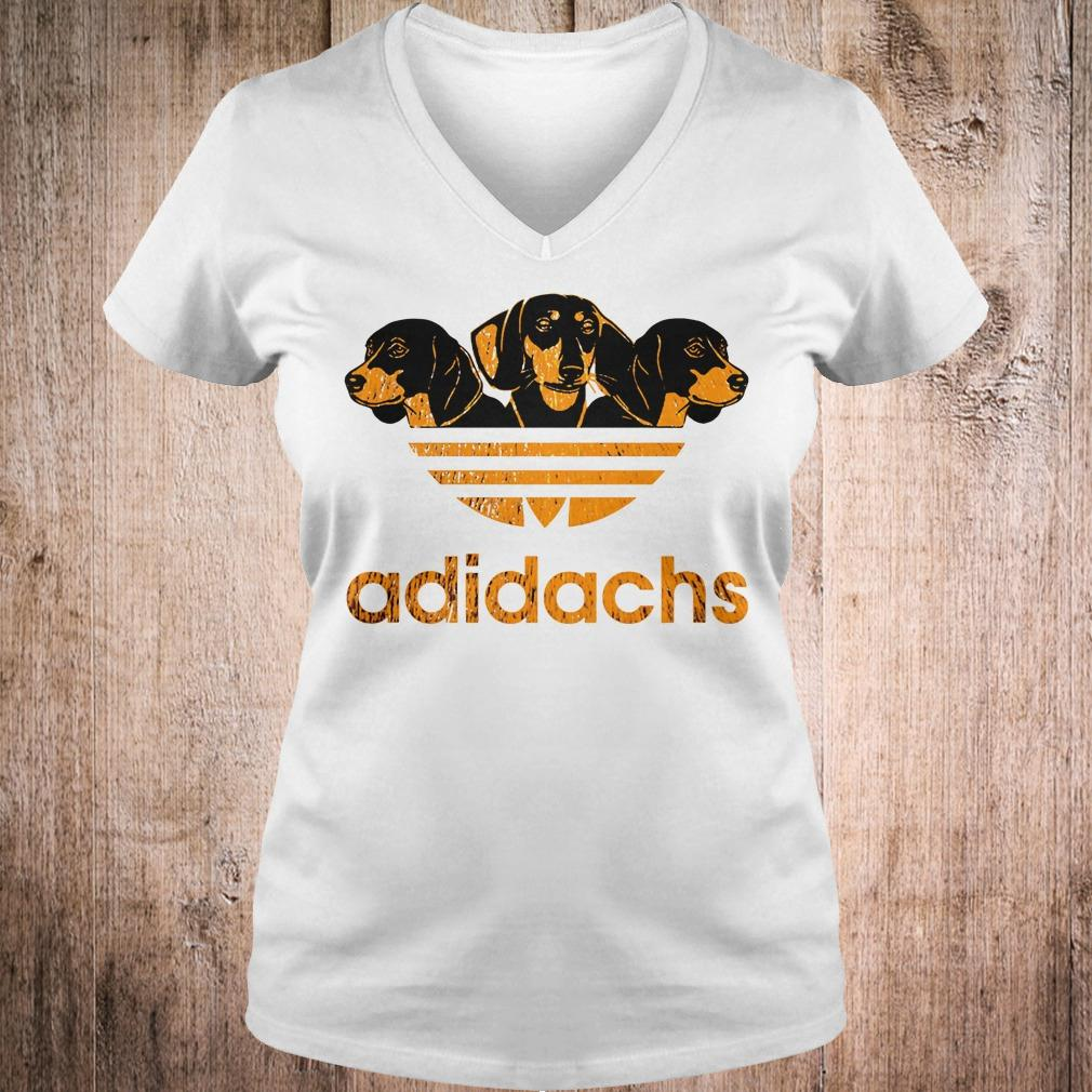 AdiDachshund Adidas mashup Dachshund shirt Ladies V-Neck