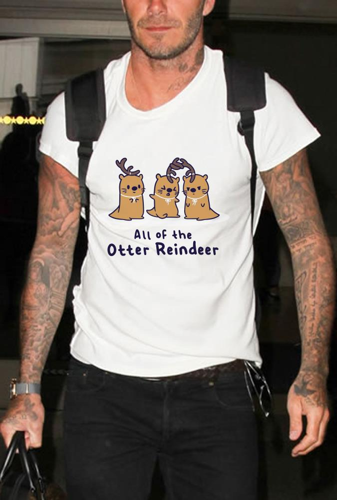 All of the otter reindeer shirt
