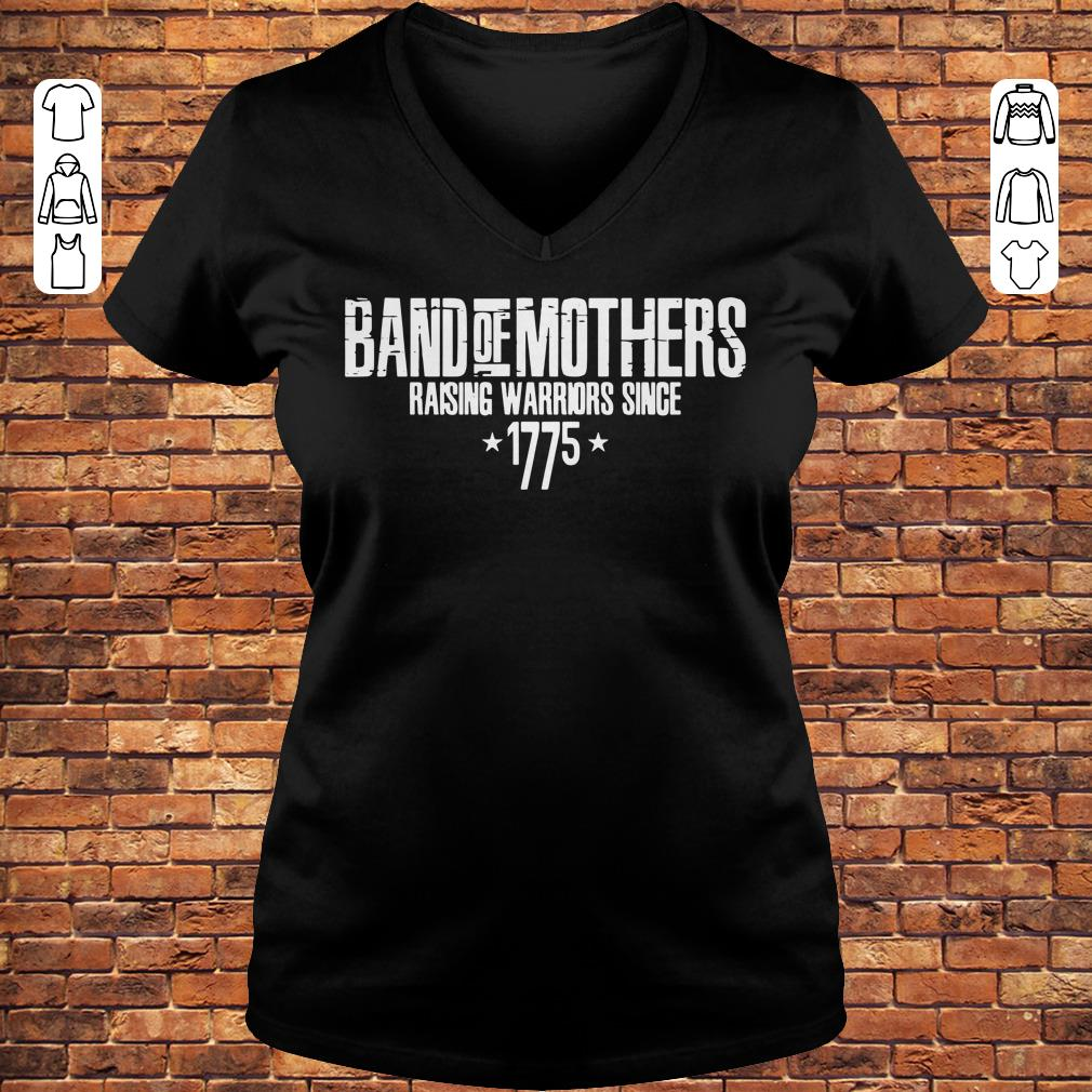 Band of mothers raising warriors since 1775 shirt Ladies V-Neck