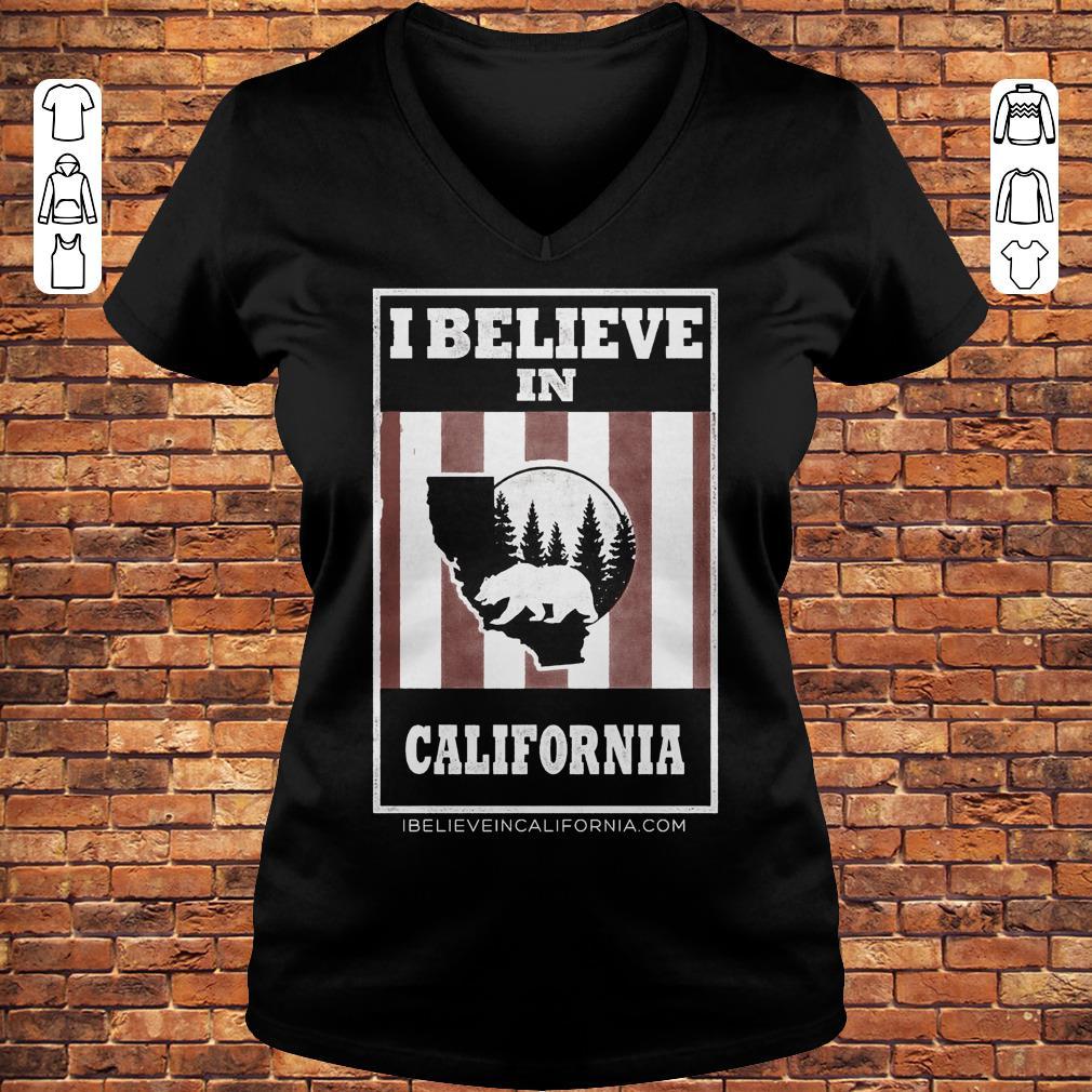 Bear I believe in California wildfires Shirt Ladies V-Neck