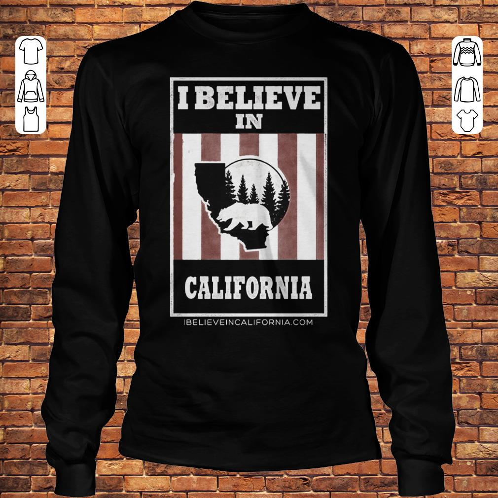 Bear I believe in California wildfires Shirt Longsleeve Tee Unisex