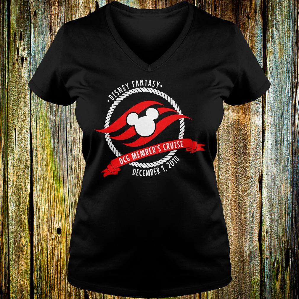 Best price Disney fantasy Mickey DCG Member's Cruise shirt Ladies V-Neck
