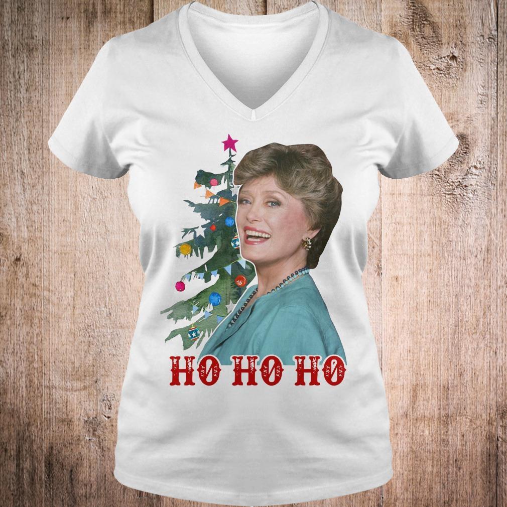 Blanche Golden Girls Ho ho ho Merry Christmas shirt Ladies V-Neck