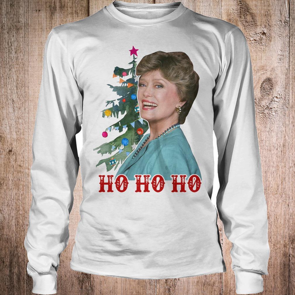 Blanche Golden Girls Ho ho ho Merry Christmas shirt Longsleeve Tee Unisex
