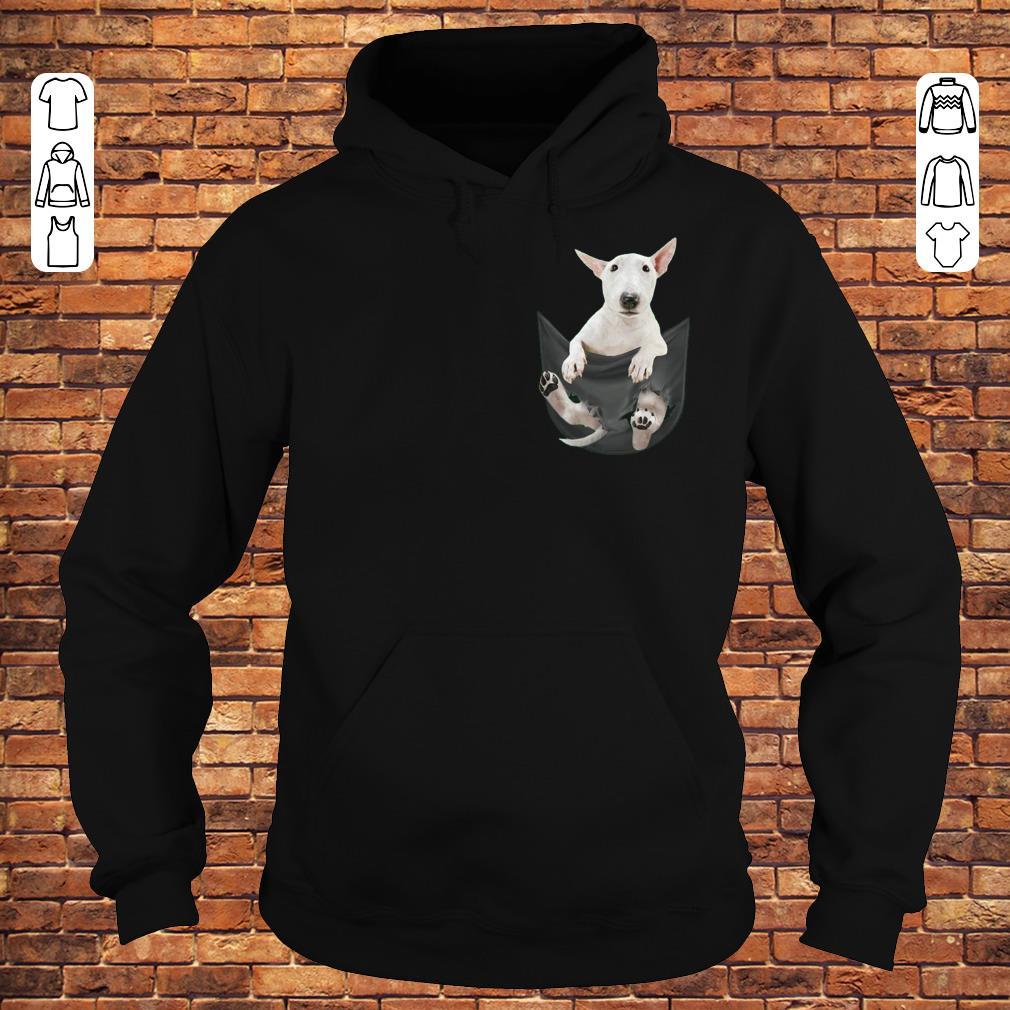 Bull Terrier inside black Tiny Pocket shirt Hoodie