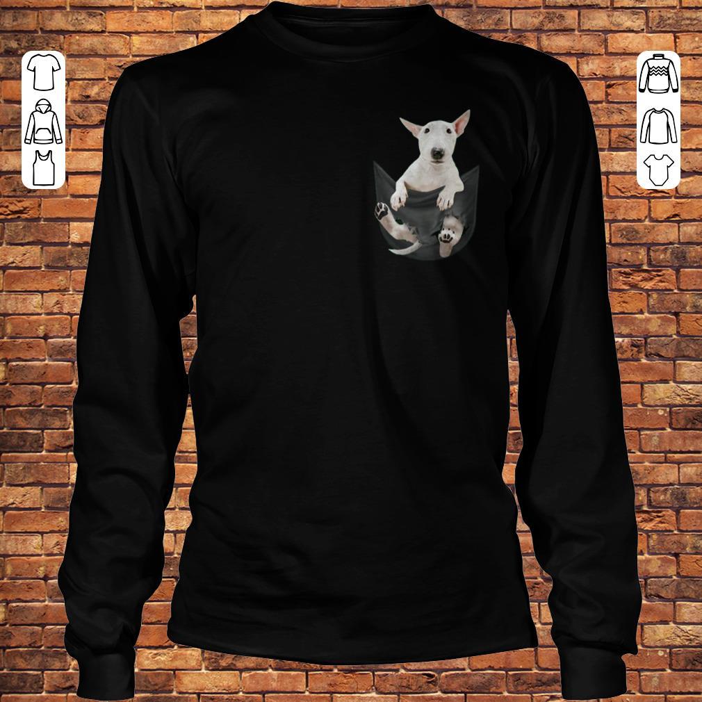 Bull Terrier inside black Tiny Pocket shirt Longsleeve Tee Unisex