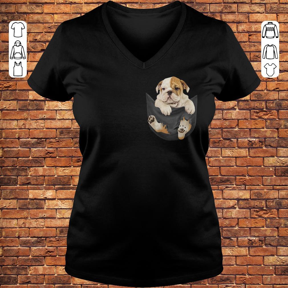 Bulldog Tiny Pocket shirt Ladies V-Neck