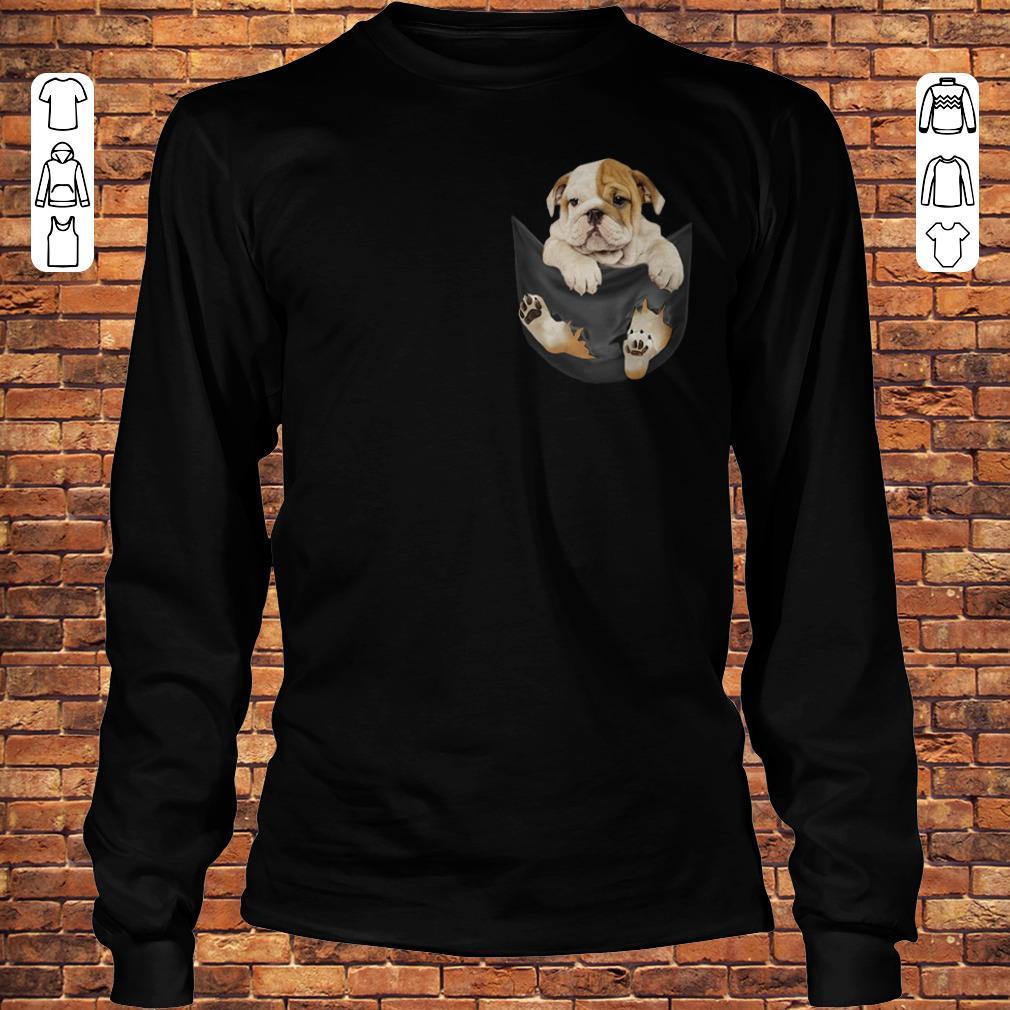 Bulldog Tiny Pocket shirt Longsleeve Tee Unisex