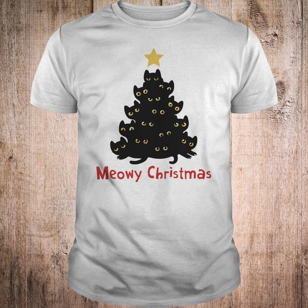 Cat Meowy Christmas Tree sweatshirt Classic Guys / Unisex Tee