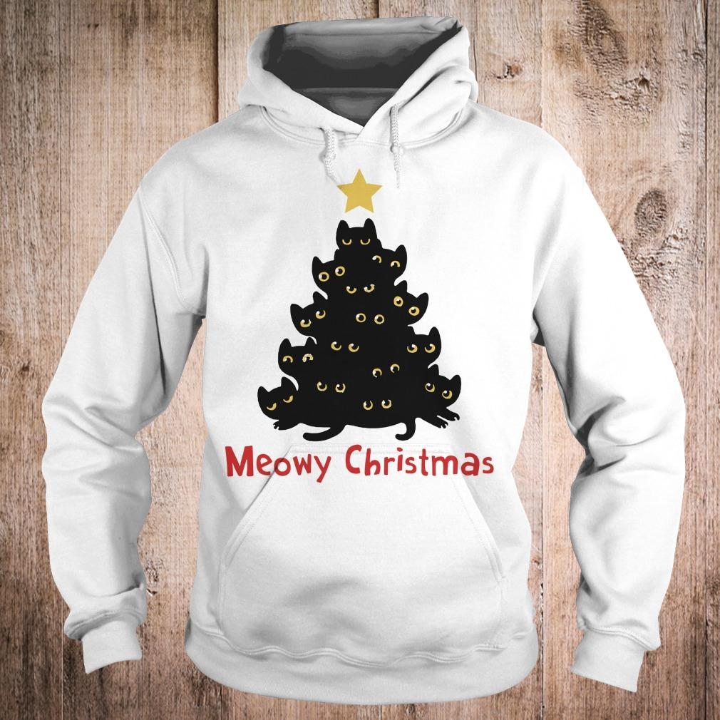 Cat Meowy Christmas Tree sweatshirt Hoodie