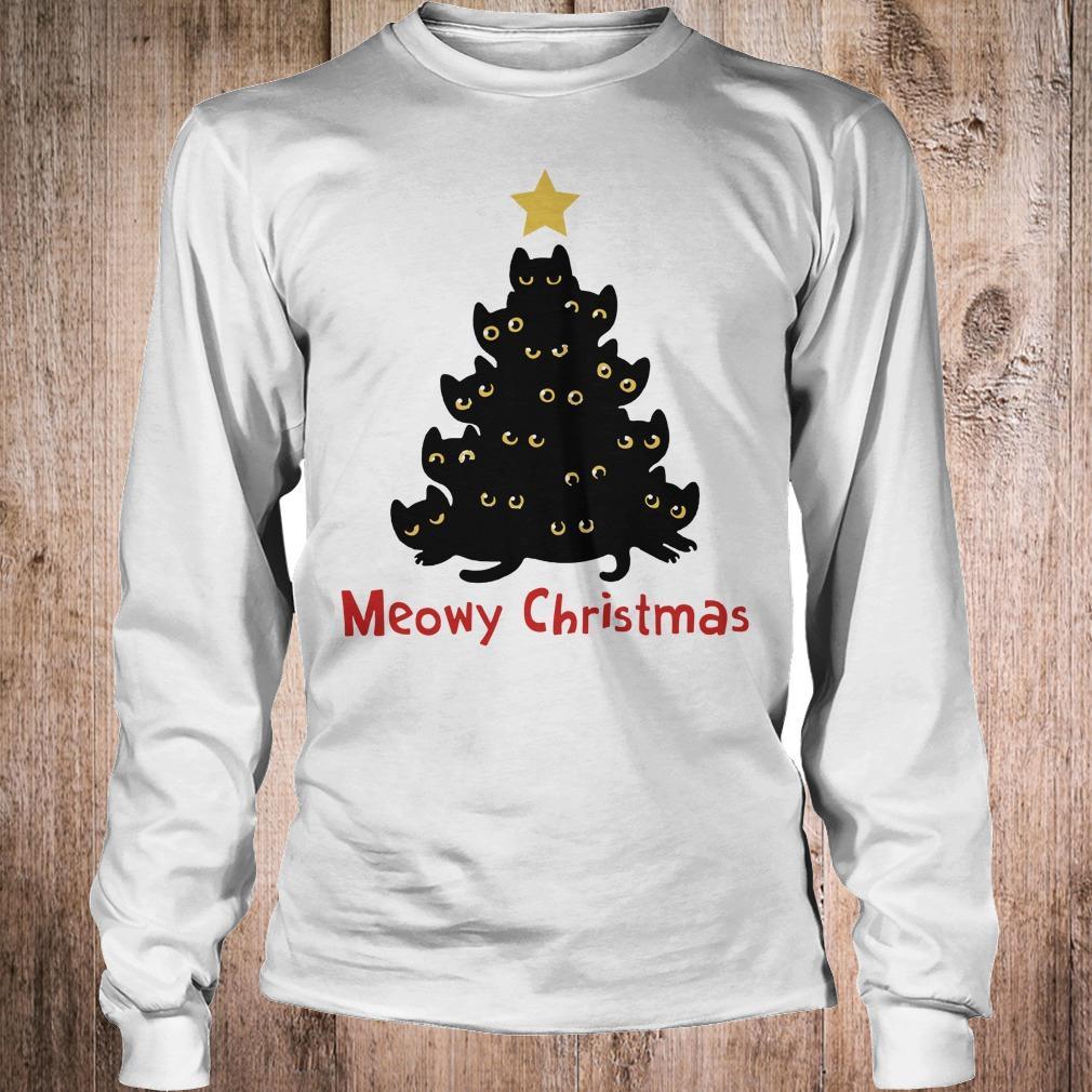 Cat Meowy Christmas Tree sweatshirt Longsleeve Tee Unisex