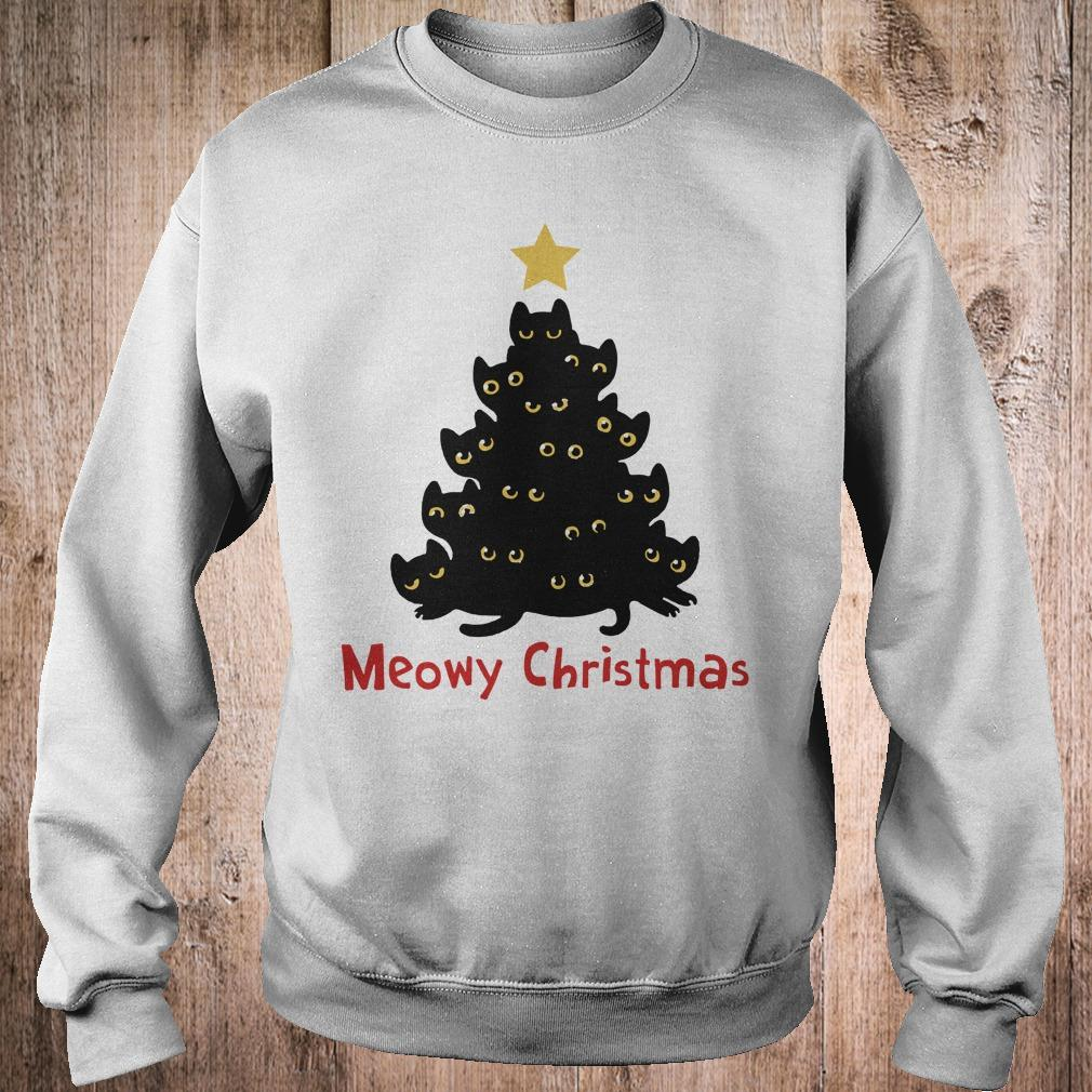Cat Meowy Christmas Tree sweatshirt