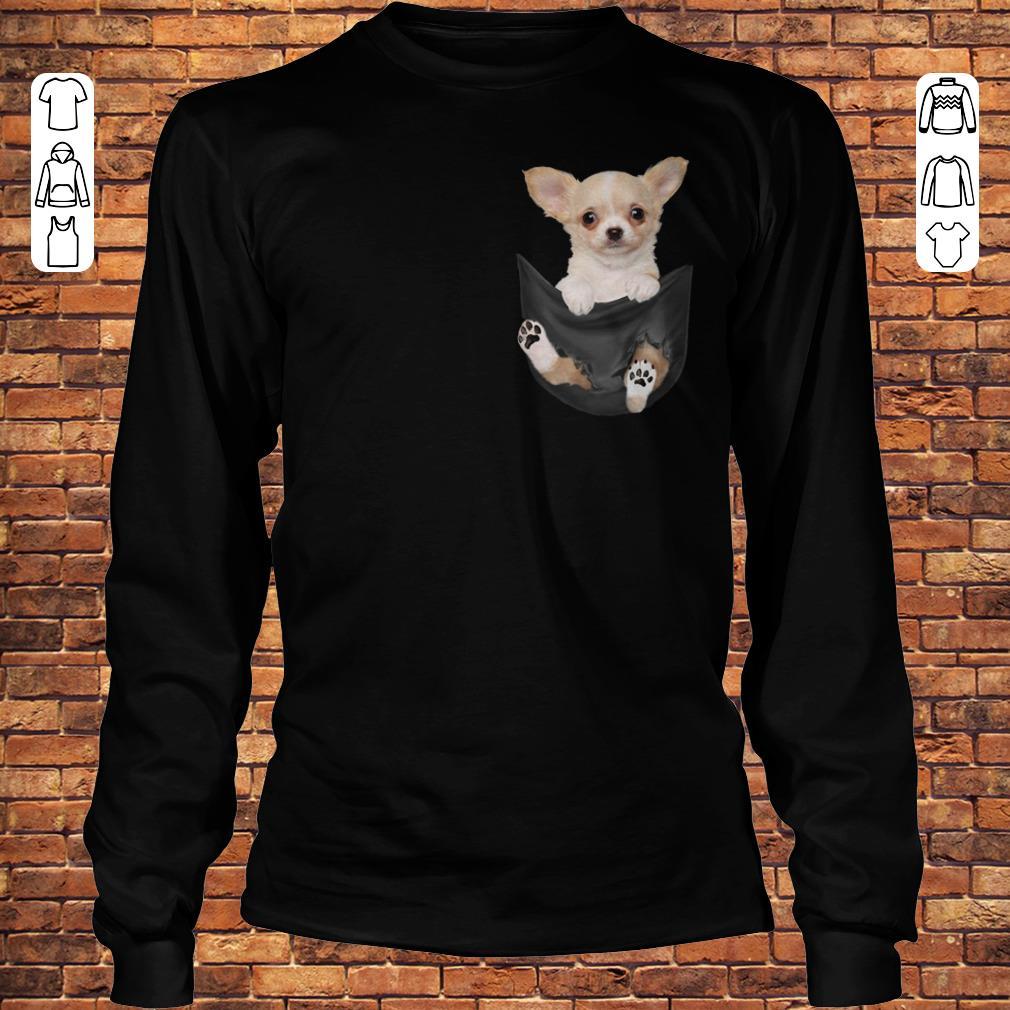 Chihuahua Tiny pocket shirt Longsleeve Tee Unisex