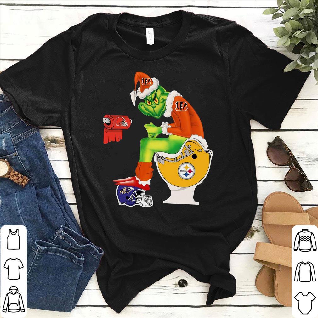 Cincinnati Bengals Grinch Santa Toilet shirt