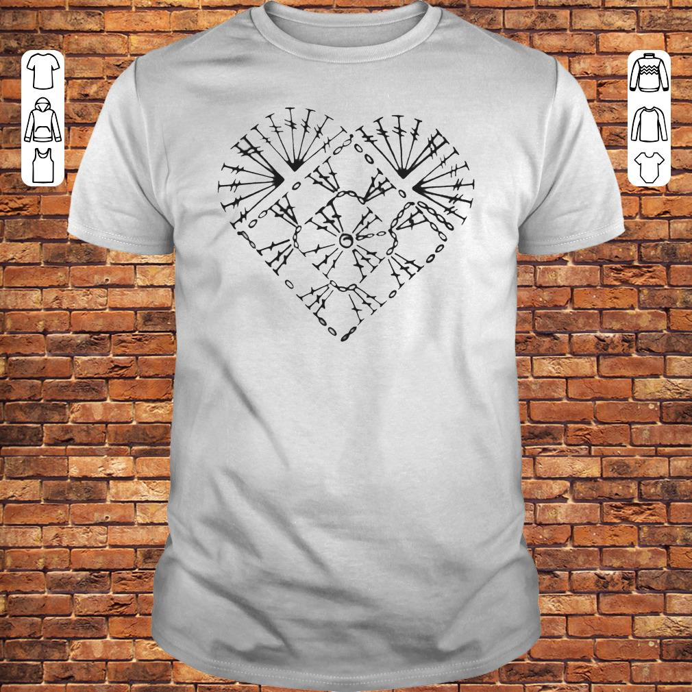 Crochet heart chart shirt