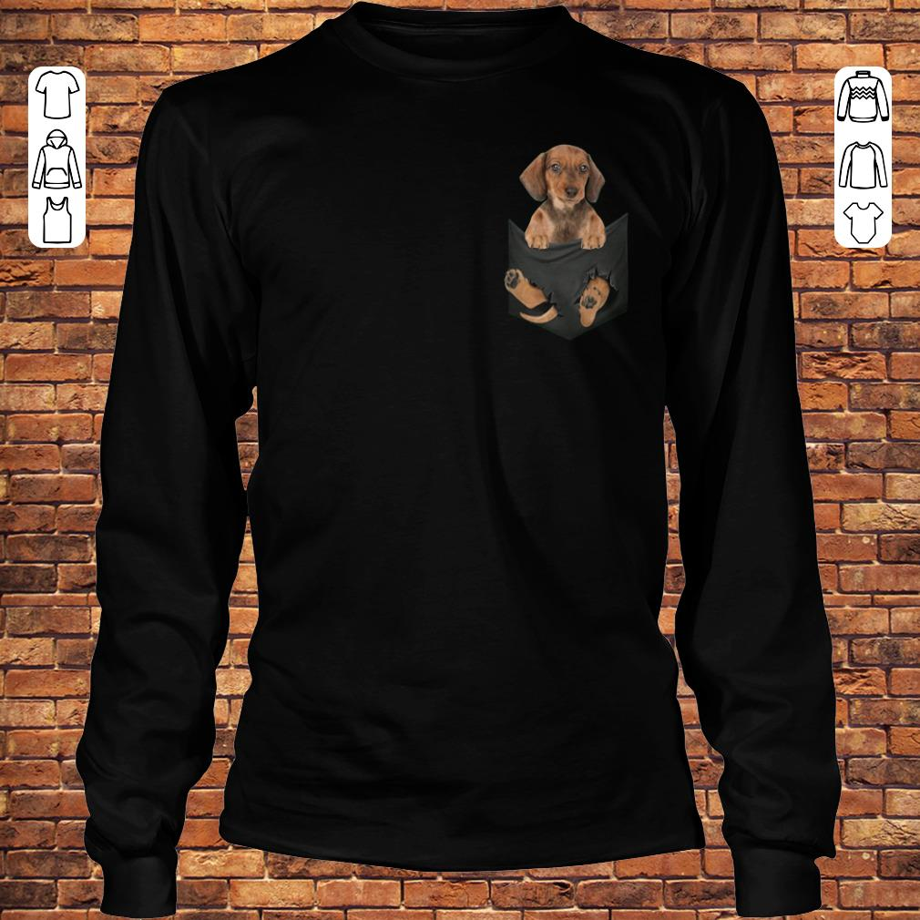 Dachshund in Tiny Pocket shirt Longsleeve Tee Unisex