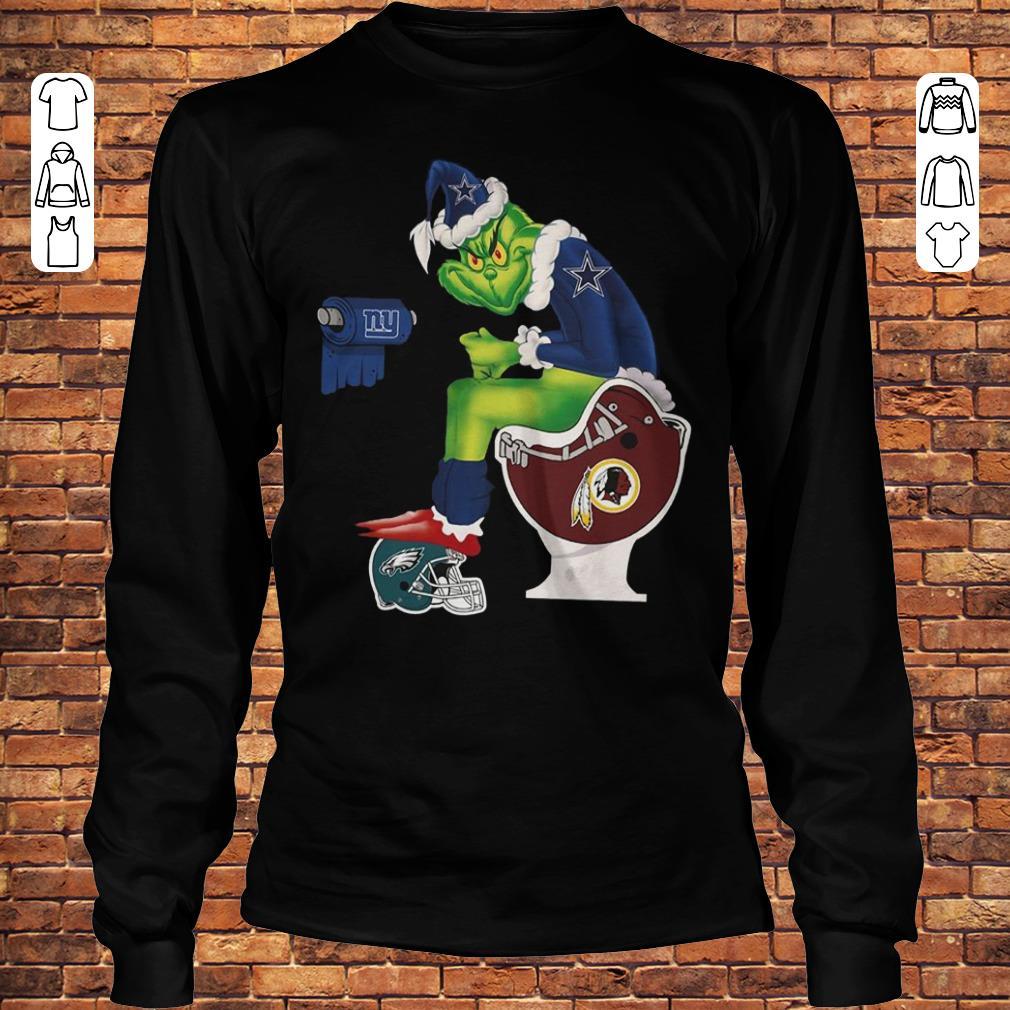 Dallas Cowboys Grinch Santa Toilet shirt Longsleeve Tee Unisex